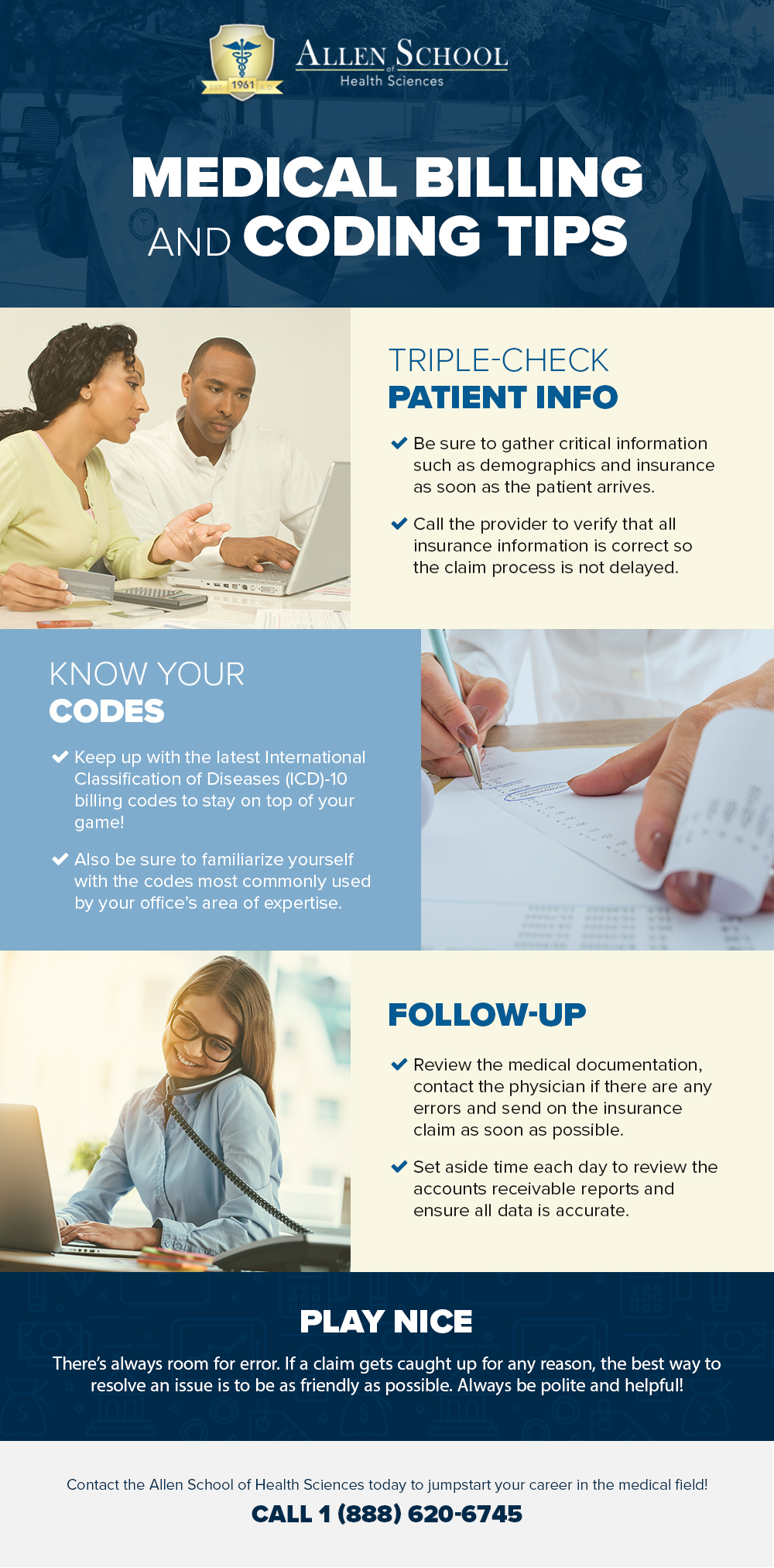medical billing and coding infographic