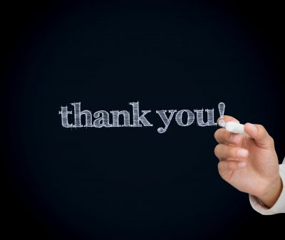 Thank you Blog Post